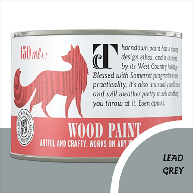 Thorndown Wood Paint 150ml - Lead Grey - Pot shot