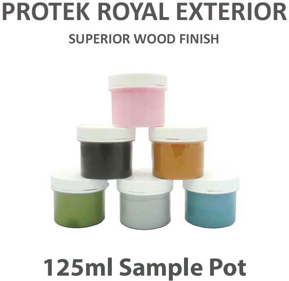 Protek Royal Exterior Paint 125ml - Sample pots