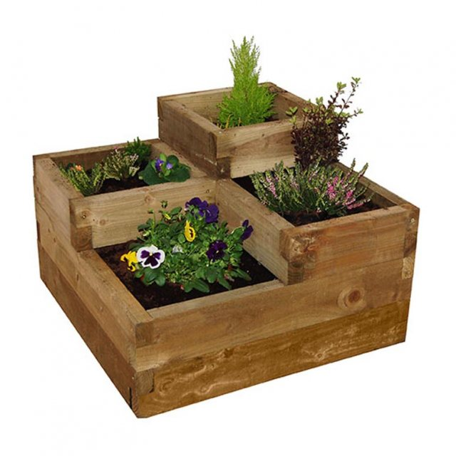 Forest Caledonian Tiered Raised Bed  - isolated