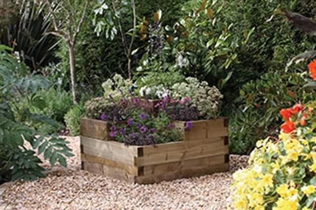 Forest Caledonian Tiered Raised Bed  - in use