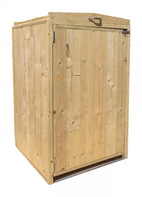 2x3 Mercia Bin Store - Single -  Pressure Treated - isolated door closed
