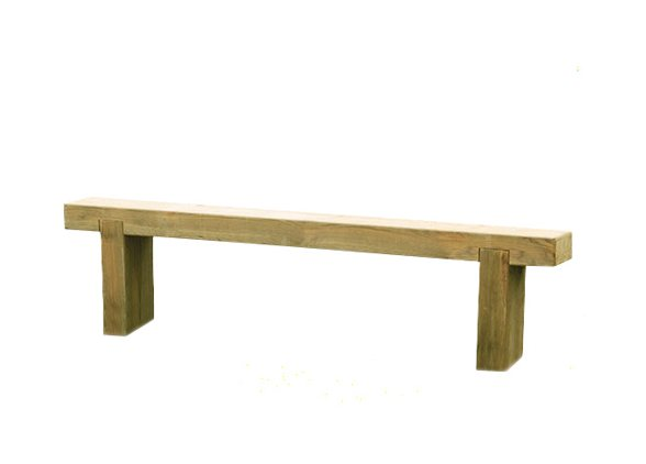 6ft Forest Sleeper Bench - Pressure Treated - isolated