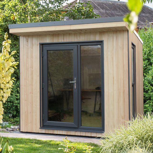 8x9 Forest Xtend 2.5+ Insulated Garden Office - insitu