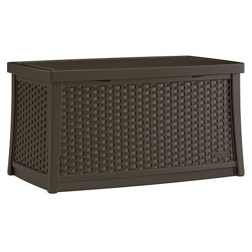 Suncast Java Plastic Small Deck Box with Seating